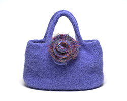Blue Felted Handbag - Nancy Knits